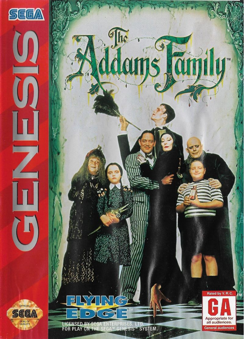 The Addams Family 1993 Genesis Box Cover Art Mobygames