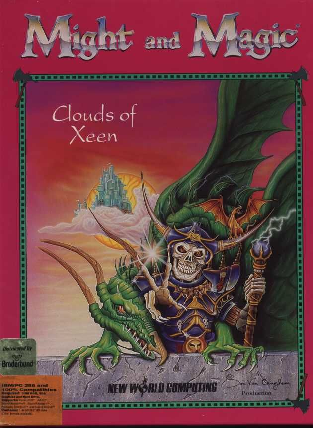 Might and Magic: Clouds of Xeen DOS Front Cover
