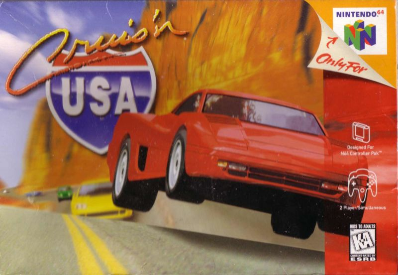 Cruis'n USA Nintendo 64 Front Cover