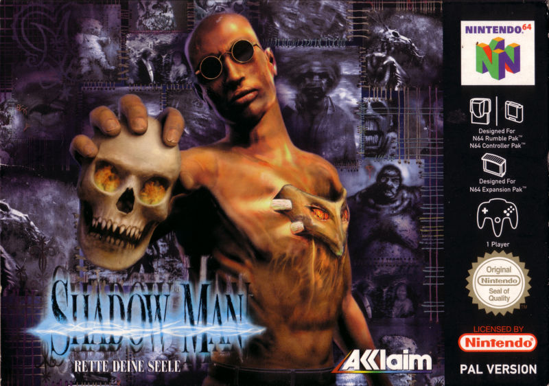 Shadow Man Nintendo 64 Front Cover