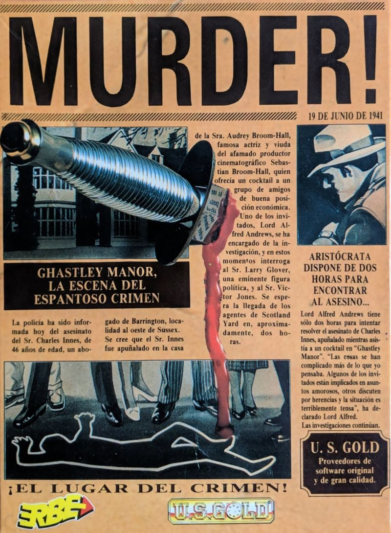 Murder! DOS Front Cover