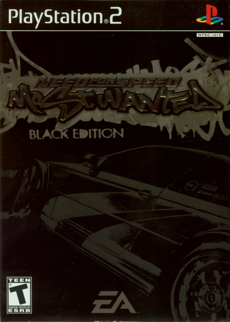 Need for Speed: Most Wanted (Black Edition) PlayStation 2 Front Cover