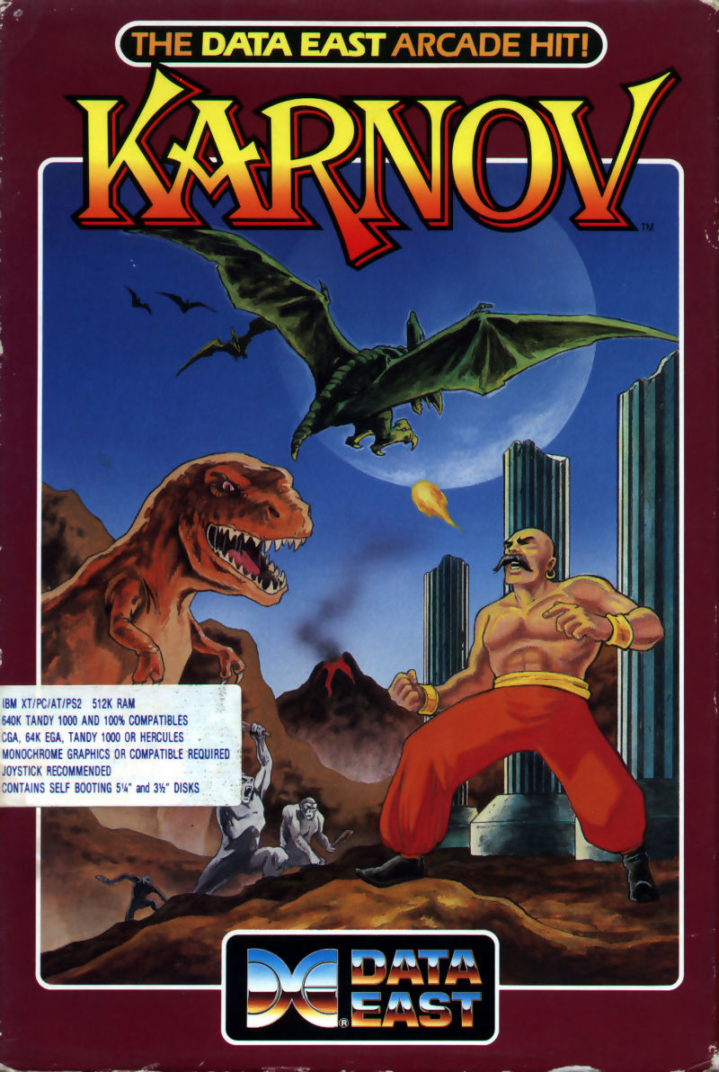 Karnov PC Booter Front Cover