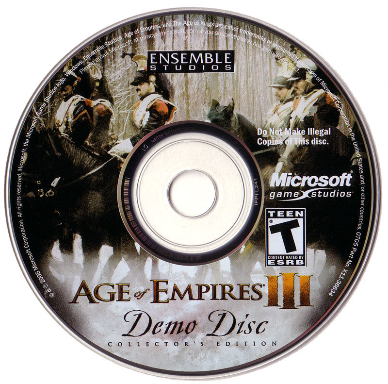 Age of Empires III (Collector's Edition) Windows Media Demo Disc