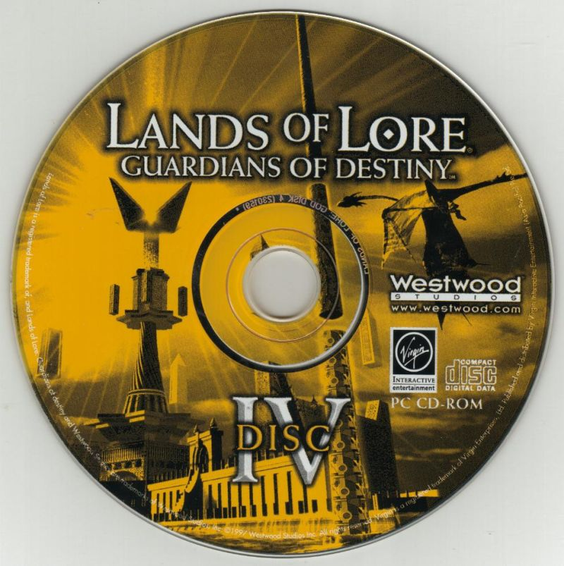 Lands of Lore: Guardians of Destiny DOS Media Disc 4