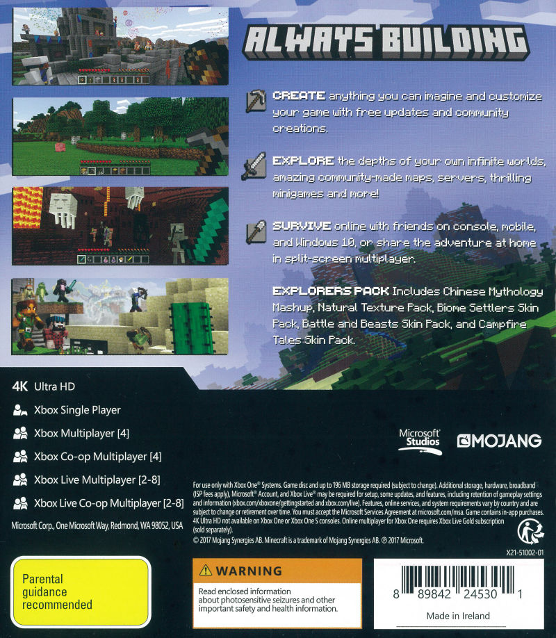 Minecraft (2017) Android box cover art - MobyGames