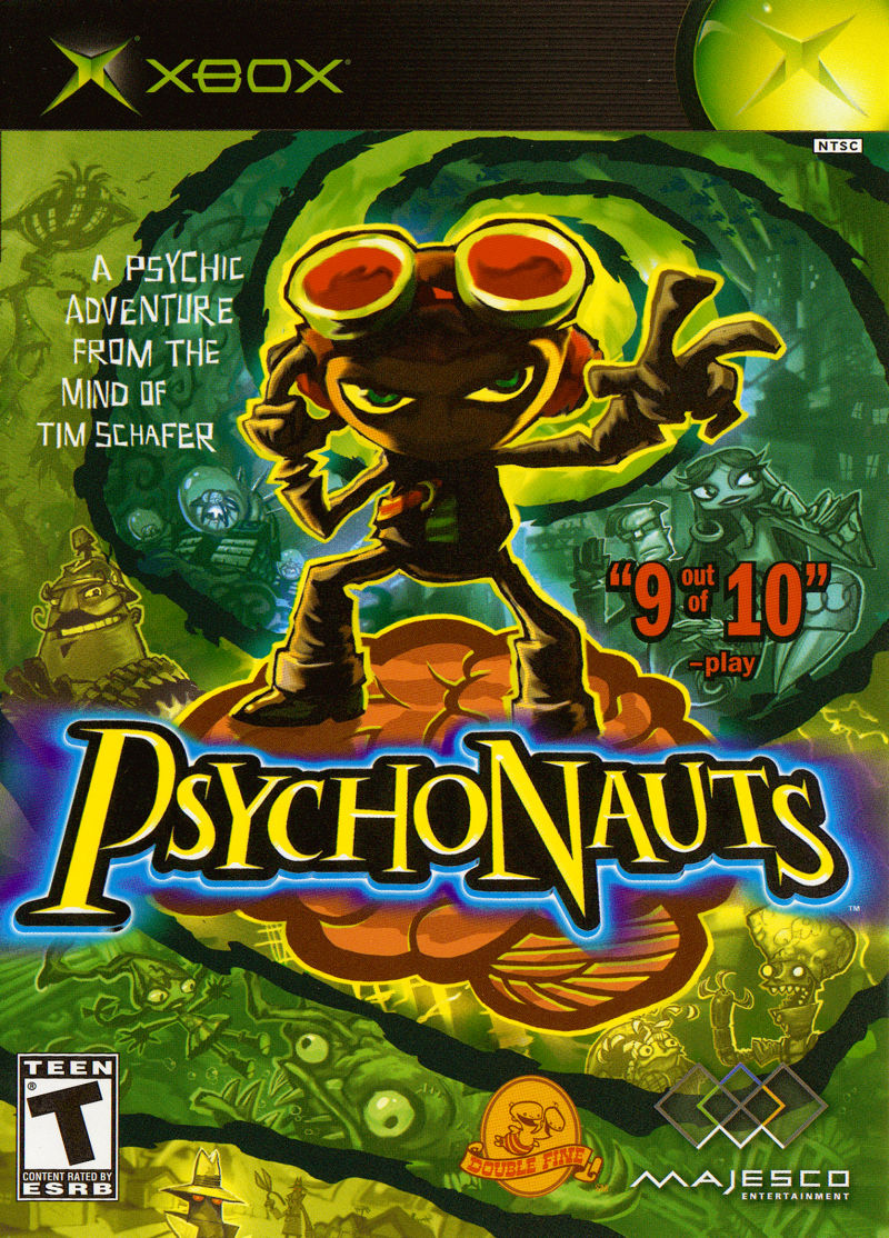 Psychonauts Xbox Front Cover