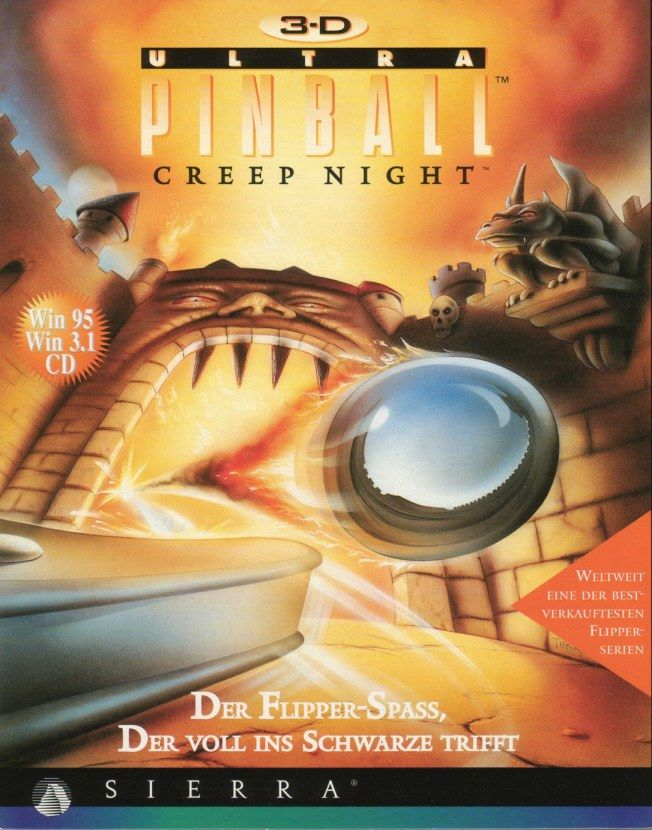 3-D Ultra Pinball: Creep Night Windows Front Cover