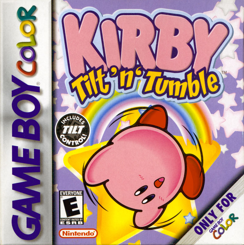 Kirby Tilt 'n' Tumble Game Boy Color Front Cover
