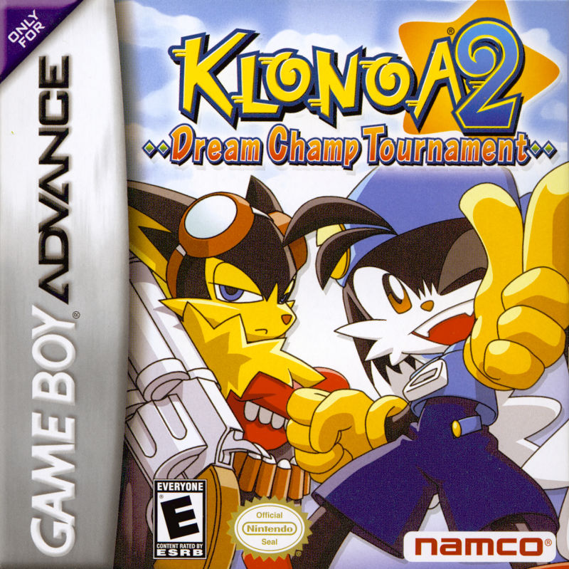 Klonoa 2: Dream Champ Tournament Game Boy Advance Front Cover