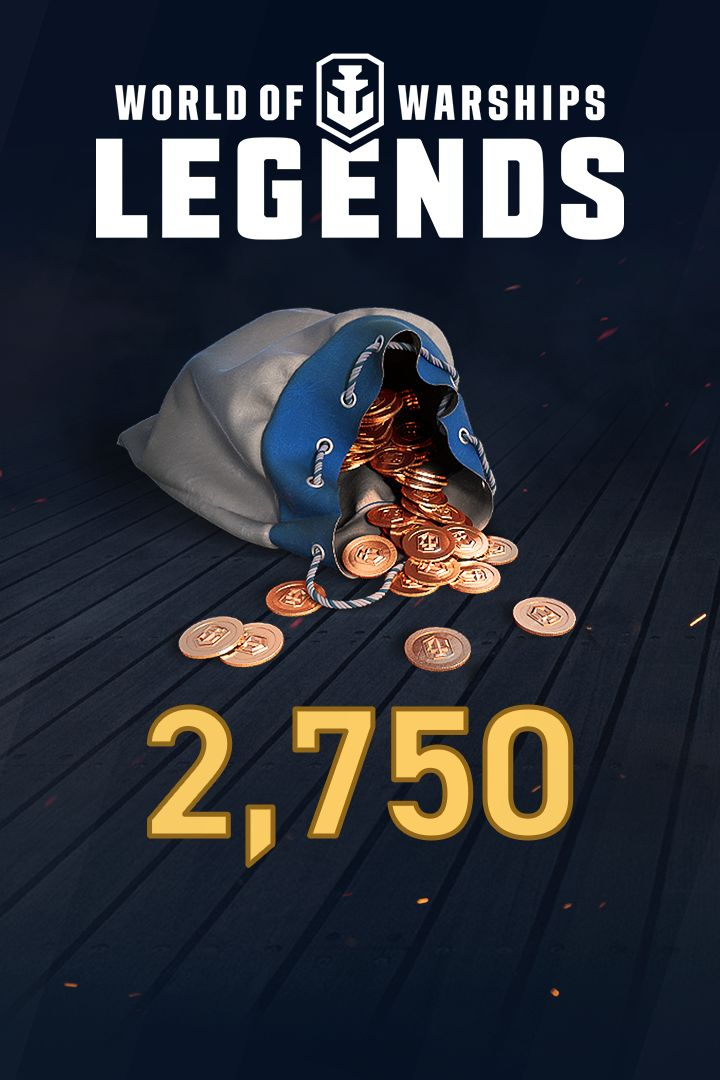 World of Warships: Legends - 2,750 Doubloons for Xbox One