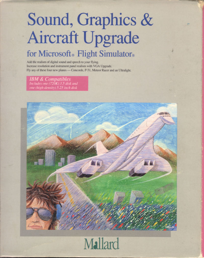 Sound, Graphics & Aircraft Upgrade for Microsoft Flight Simulator DOS Front Cover