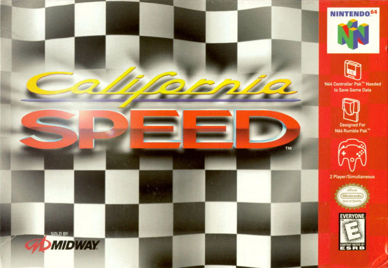 California Speed Nintendo 64 Front Cover