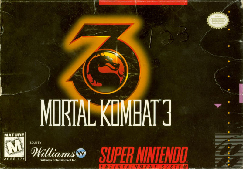 Mortal Kombat 3 SNES Front Cover