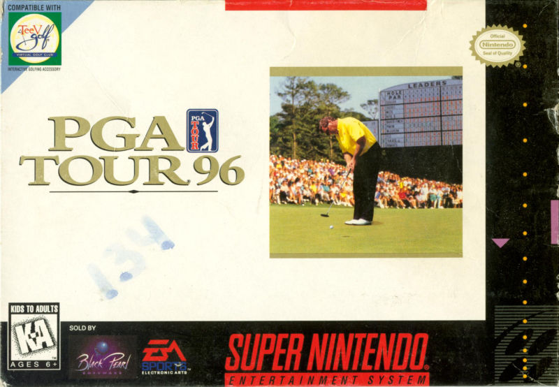 PGA Tour Golf III SNES Front Cover