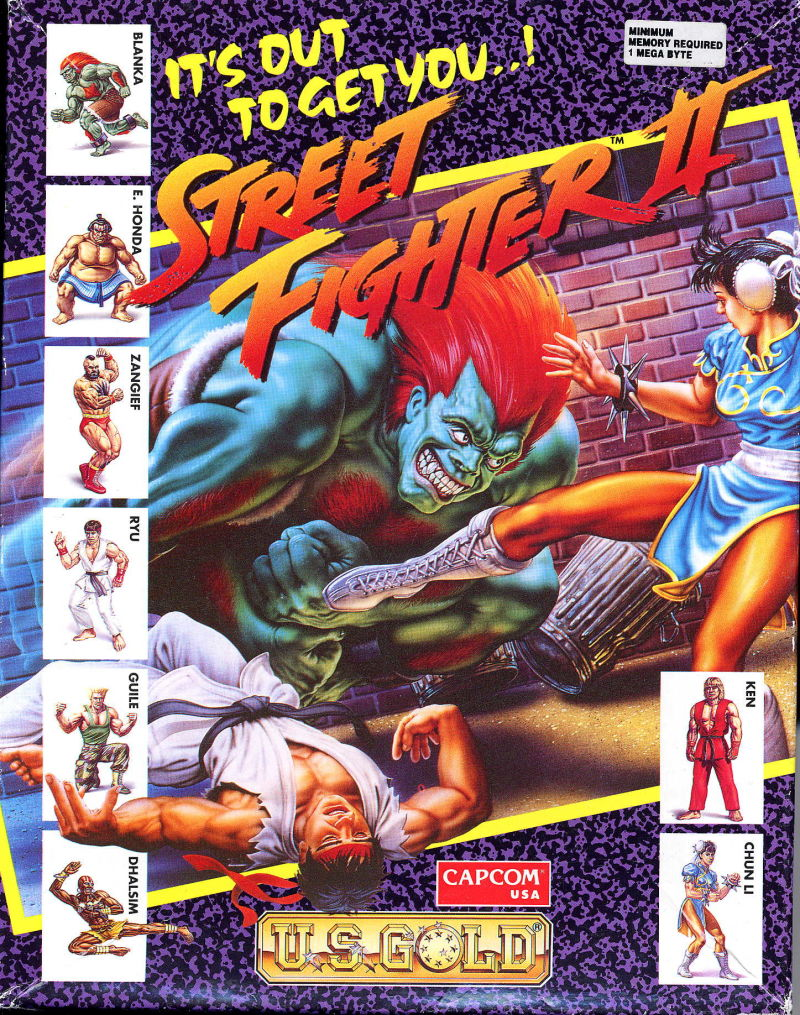 Street Fighter II Amiga Front Cover