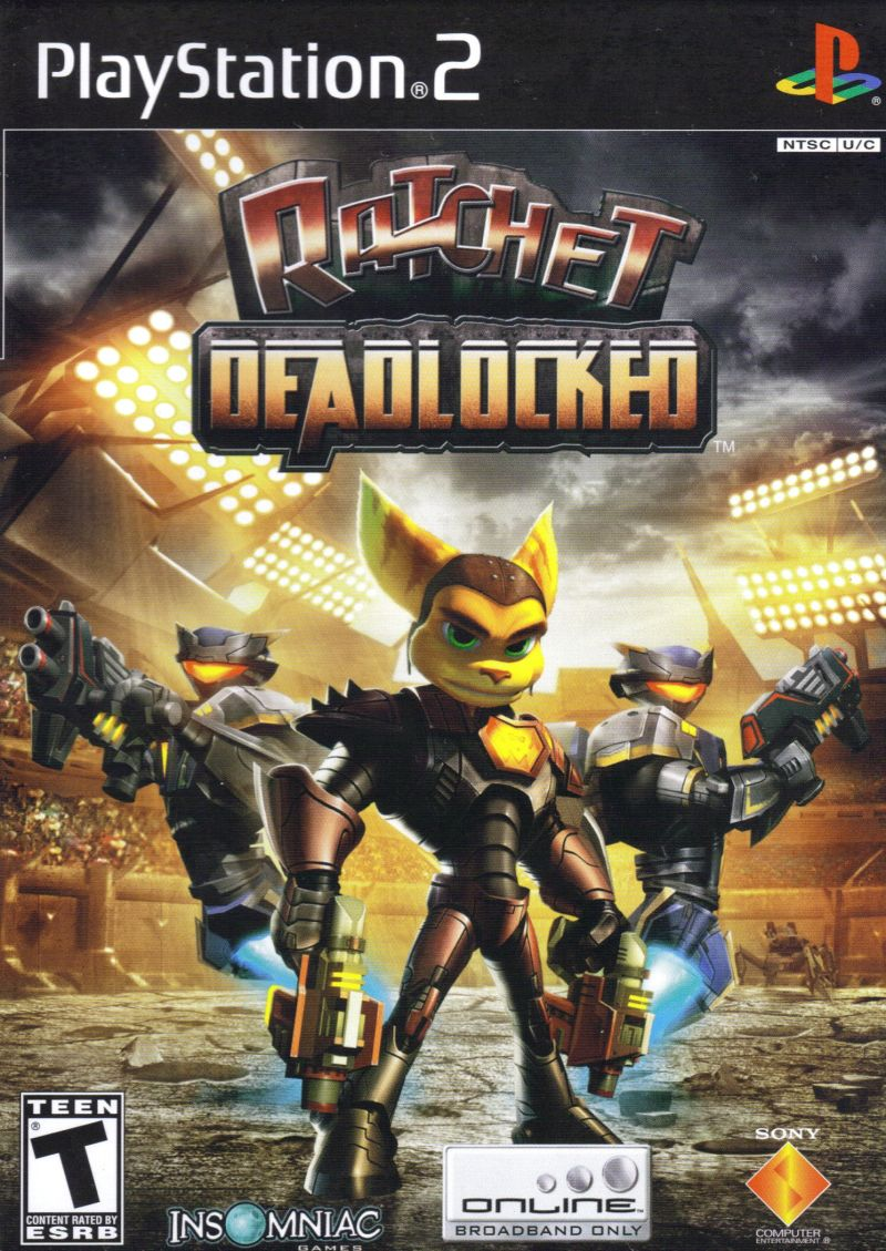 Ratchet: Deadlocked PlayStation 2 Front Cover