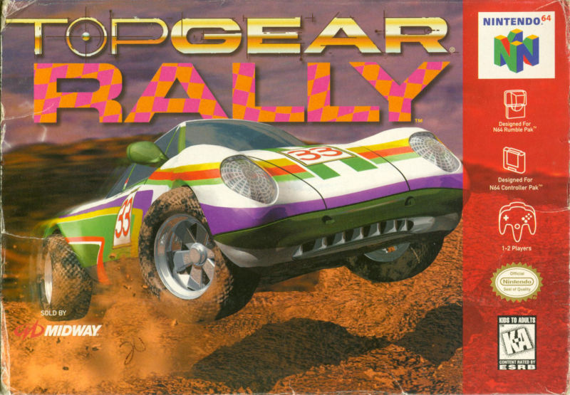 Top Gear Rally Nintendo 64 Front Cover