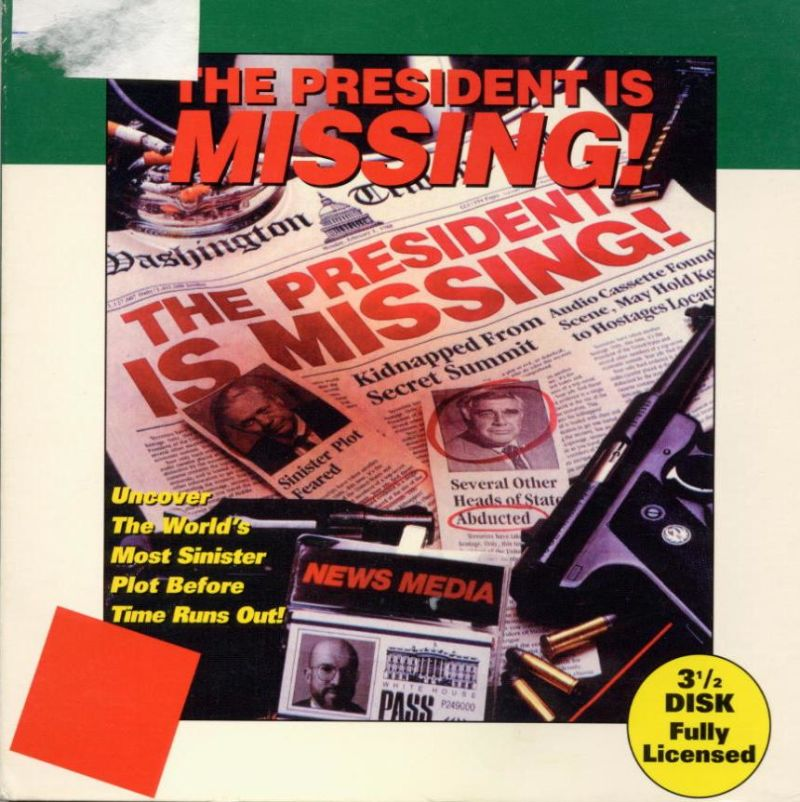 The President is Missing DOS Front Cover