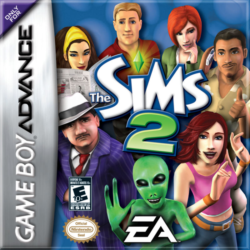 The Sims 2 Game Boy Advance Front Cover