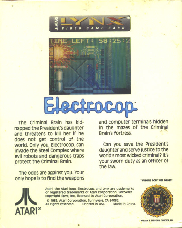 Electrocop Lynx Back Cover