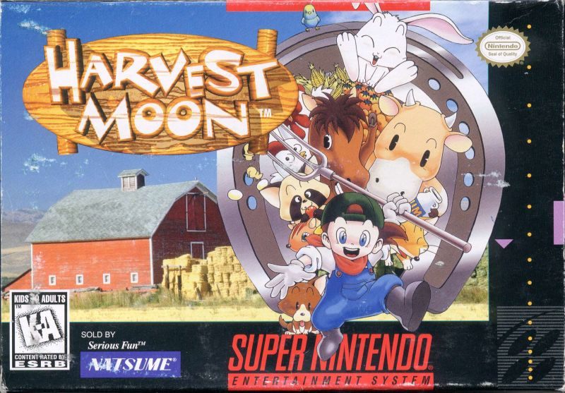 Harvest Moon SNES Front Cover