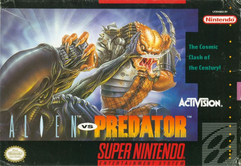 Alien Vs. Predator SNES Front Cover