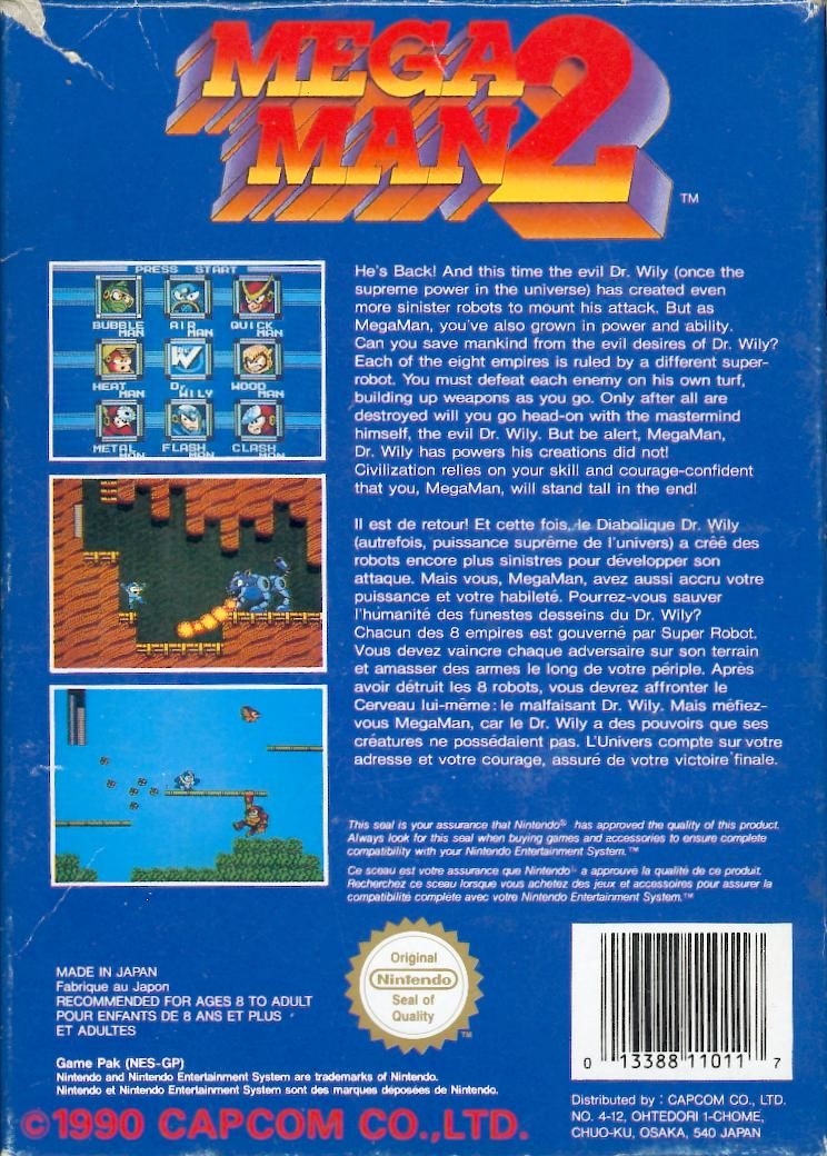 Mega Man 2 NES Back Cover