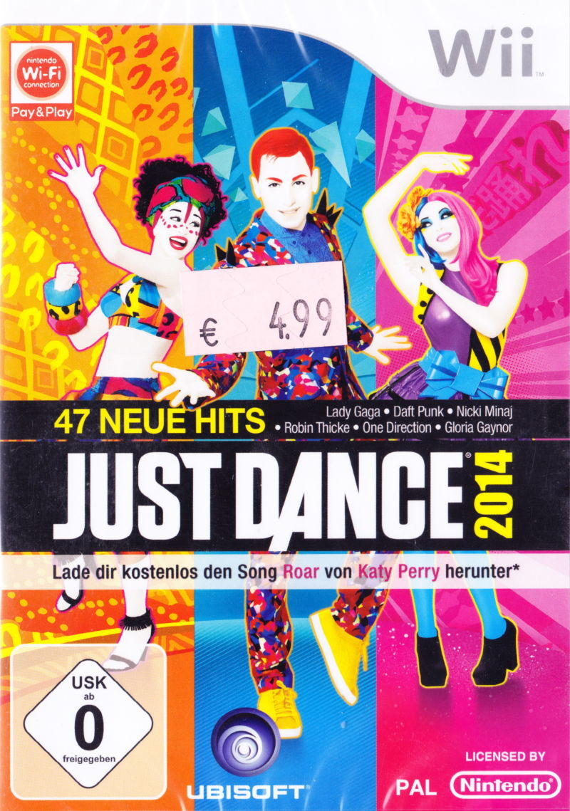 Just Dance 2014 Wii Front Cover