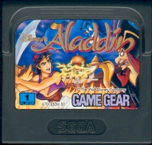 Disney's Aladdin Game Gear Media