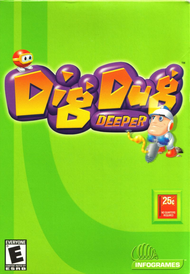 Dig Dug Deeper Windows Front Cover