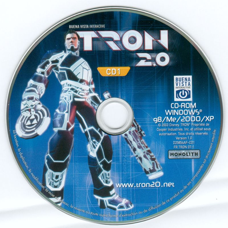 TRON 2.0 Windows Media Disc 1/2