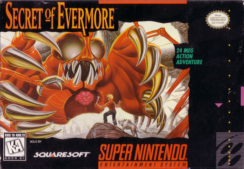 Secret of Evermore SNES Front Cover
