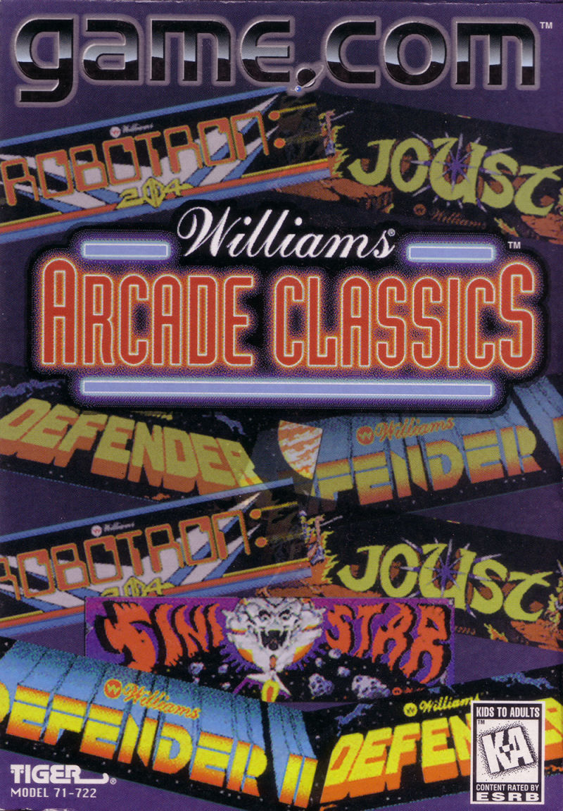 Williams Arcade Classics Game.Com Front Cover