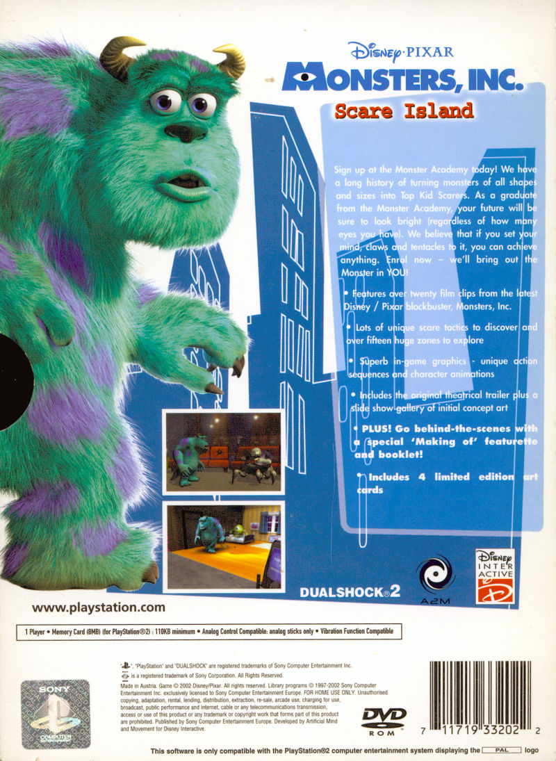 monsters inc scare island ps2 download iso