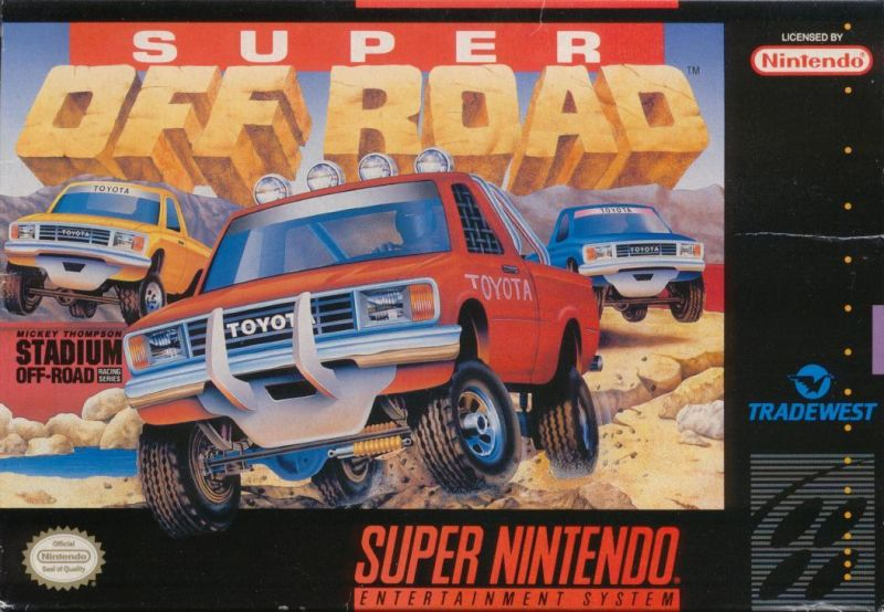 Ivan 'Ironman' Stewart's Super Off Road SNES Front Cover