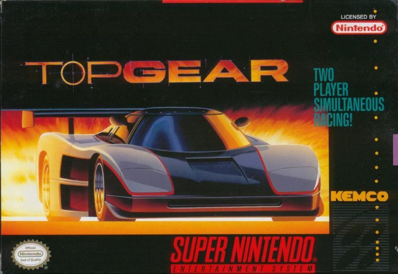 Top Gear SNES Front Cover