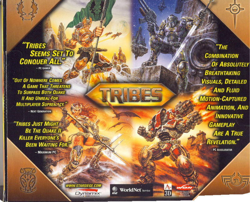 Starsiege: Tribes Windows Back Cover