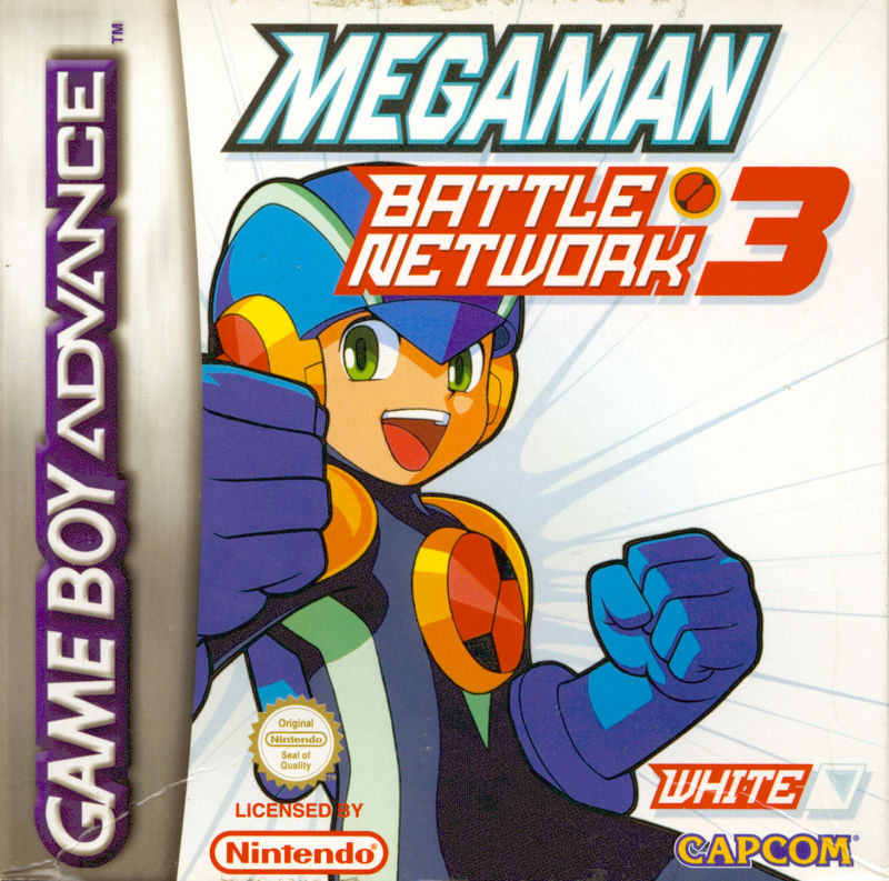 Mega Man Battle Network 3: White Version Game Boy Advance Front Cover