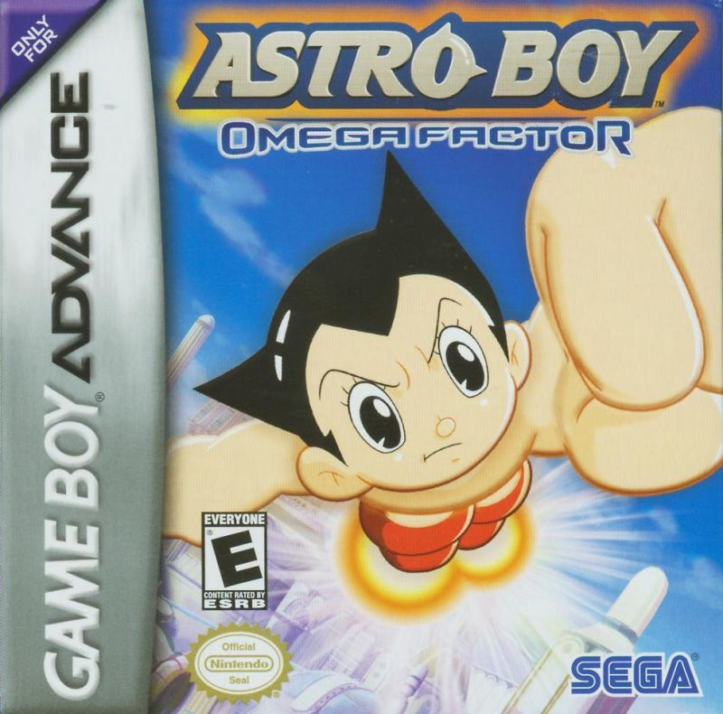 Astro Boy: Omega Factor Game Boy Advance Front Cover