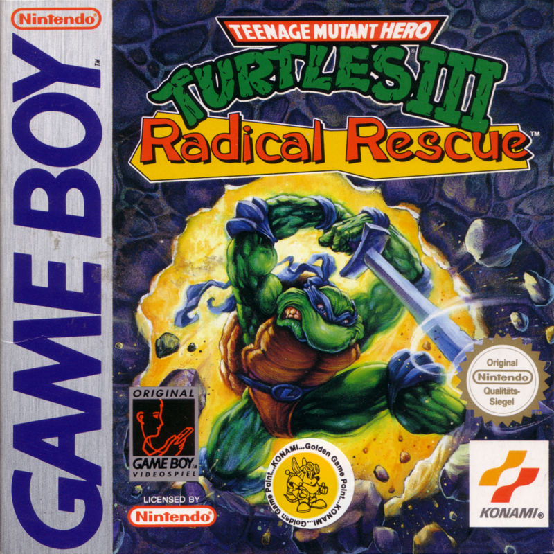 Teenage Mutant Ninja Turtles III: Radical Rescue Game Boy Front Cover