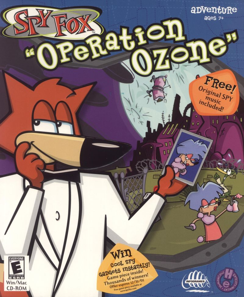 "Spy Fox: ""Operation Ozone"" Macintosh Front Cover"
