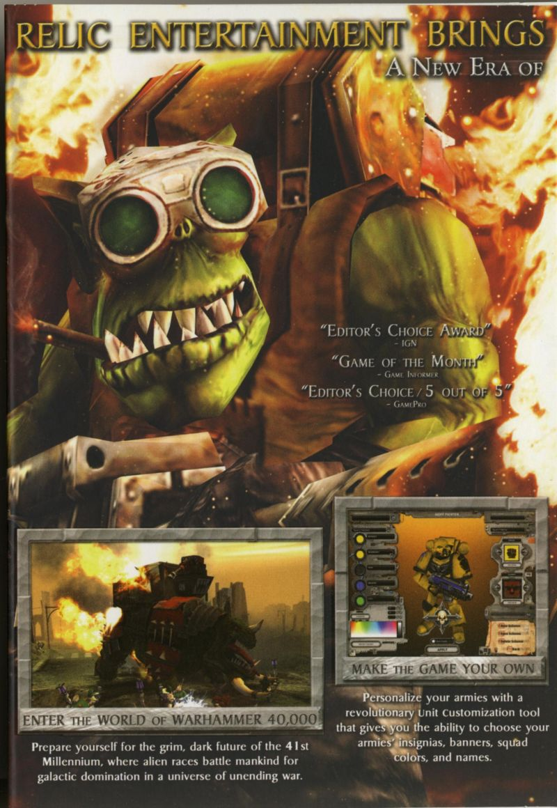 Warhammer 40,000: Dawn of War (Game of the Year) Windows Inside Cover Left Flap