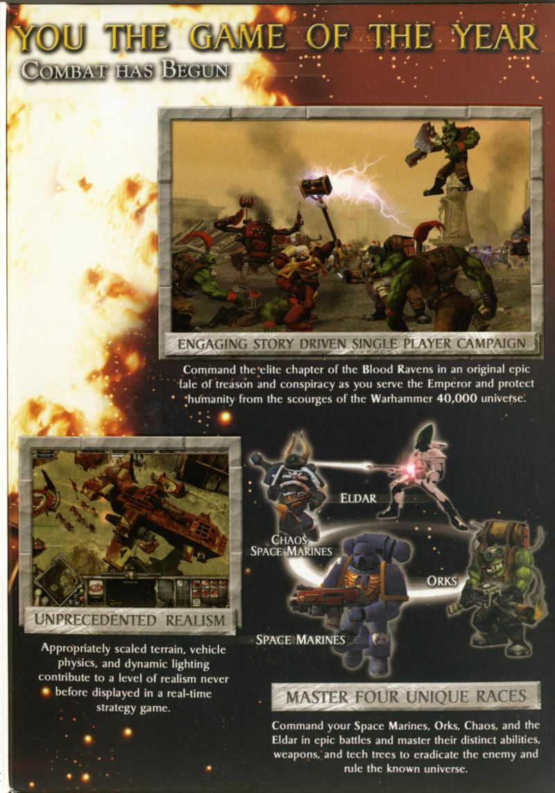 Warhammer 40,000: Dawn of War - Game of the Year Windows Inside Cover Right Flap
