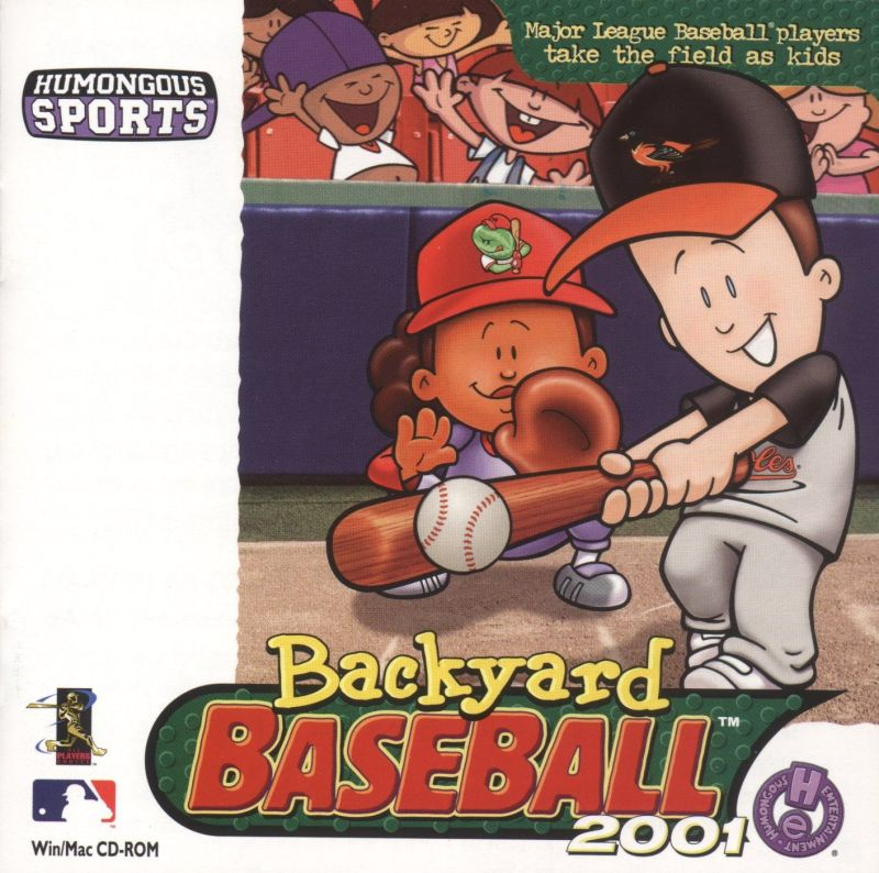 backyard baseball 2001 2000 macintosh box cover art mobygames