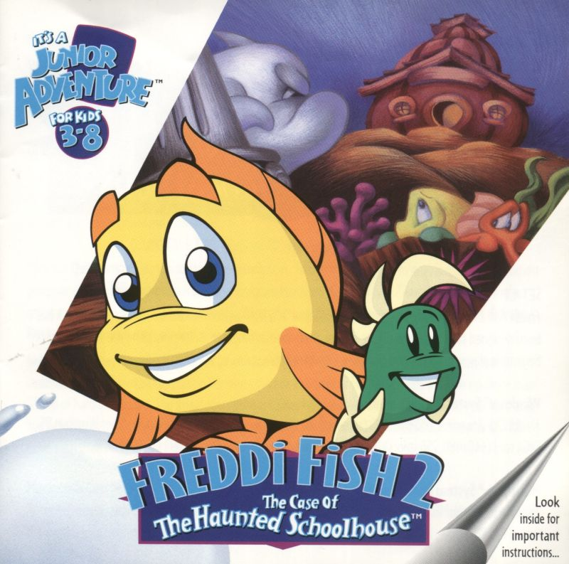Freddi Fish 2: The Case of the Haunted Schoolhouse Macintosh Front Cover