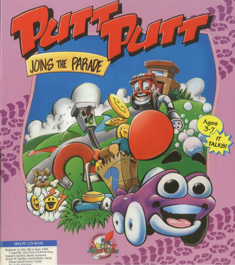 Putt-Putt Joins the Parade DOS Front Cover