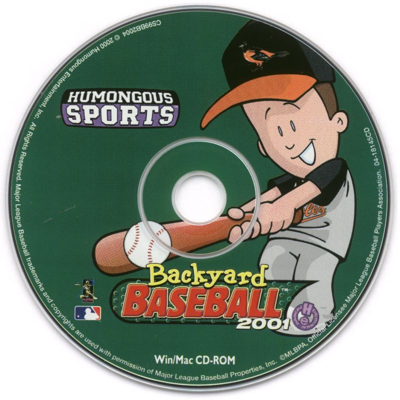 backyard baseball 2001 2000 windows box cover art mobygames