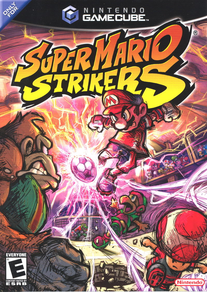 Super Mario Strikers GameCube Front Cover