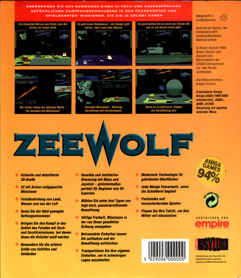 Zeewolf Amiga Back Cover
